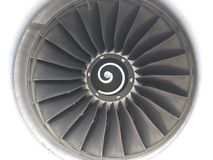 Aircraft turbine propeller. Of from close up Stock Photography