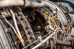 Aircraft turbojet engine Royalty Free Stock Photos