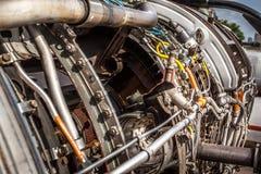 Aircraft turbojet engine Royalty Free Stock Photos