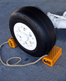 Aircraft tyre Stock Images