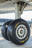 Aircraft undercarriage landing gear Royalty Free Stock Photos