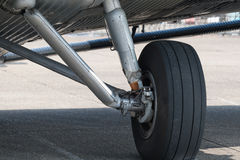 Aircraft undercarriage. Undercarriage of vintage 1940's, German Junkers JU52 Trimotor Royalty Free Stock Photography