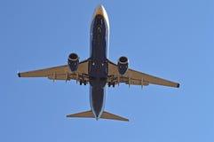 Passenger Plane Aircraft Underside Royalty Free Stock Image