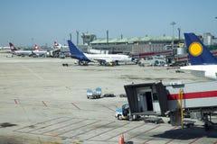 Aircraft unloading cargo. Istanbul Turkey royalty free stock photos
