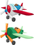 Aircraft vector. Two Aircraft isolated of illustration vector Royalty Free Stock Photography