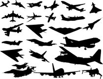 Aircraft vector image Royalty Free Stock Image