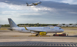 Aircraft of Vueling Airlines Royalty Free Stock Images