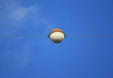 Aircraft Warning Ball of Electricity Transmission Line Royalty Free Stock Image