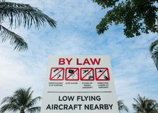 Aircraft warning sign Stock Image
