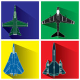 Aircraft weapon. In color squarer Royalty Free Stock Photography