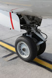 Aircraft wheel Royalty Free Stock Photos