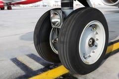 Aircraft wheel Royalty Free Stock Image