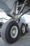 Aircraft wheel Royalty Free Stock Photography