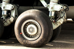 Aircraft wheel and tire Stock Photo