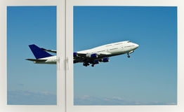 Aircraft through the window Royalty Free Stock Image