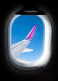 Aircraft window Stock Photo