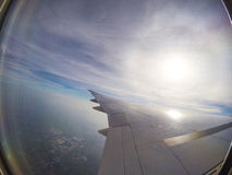 Aircraft window view Royalty Free Stock Image