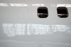 Aircraft windows Stock Image