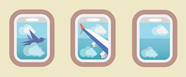 Aircraft Windows, airplane windows Royalty Free Stock Images