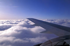 Aircraft wing. Above cloud Stock Image