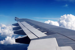 Aircraft wing Stock Images