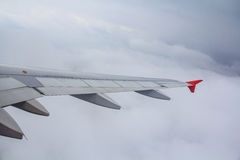 Aircraft wing in the air Royalty Free Stock Image