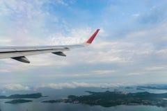 Aircraft wing transportation plane Royalty Free Stock Photo