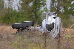Aircraft Wreck. Wreck of a crashed aircraft Stock Photos