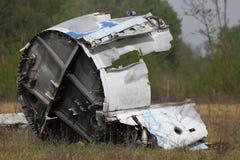 Aircraft Wreck. Wreck of a crashed aircraft Stock Images
