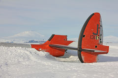 Aircraft wreckage in Antarctica Royalty Free Stock Photo