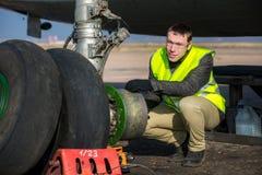 Aircraft& x27 da fixação do coordenador; roda de s Foto de Stock
