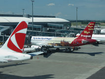 Aircrafts of the Czech Airlines Royalty Free Stock Image