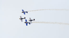 Aircrafts in formation Royalty Free Stock Photography