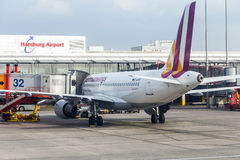Aircrafts at the gate in the modern Royalty Free Stock Image