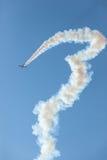 Aircrafts GP Plane Flying Race Acrobatics. Aircrafts GP plane race flying course in acrobatics show on Durban beachfront Stock Photos