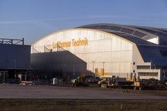 Aircrafts at Lufthansa Technik Stock Image