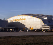Aircrafts at Lufthansa Technik Royalty Free Stock Photo