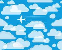 Aircrafts in the sky Royalty Free Stock Photography