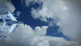 Aircrafts and stormy time lapse clouds, stock footage stock video footage
