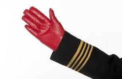 Aircrew hand waving Royalty Free Stock Photo