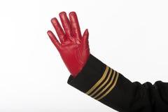 Aircrew hand waving Stock Photo