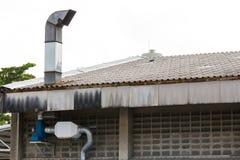 Aire acondicionado de acero industrial imágenes de archivo libres de regalías