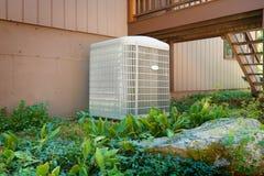 Aire acondicionado de la casa y unidad de calefacción Imágenes de archivo libres de regalías