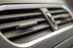 Aire acondicionado en primer moderno del coche compacto fotos de archivo libres de regalías