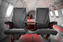 Aire anticuado viejo del pasajero dentro foto de archivo libre de regalías