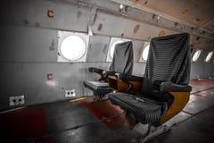 Aire anticuado viejo del pasajero dentro imagen de archivo