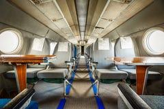 Aire anticuado viejo del pasajero dentro fotos de archivo