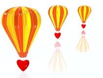 Aire-baloon del amor foto de archivo