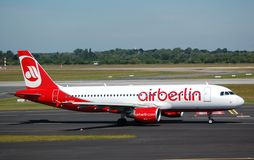 Aire Berlín Airbus 320 Imagenes de archivo