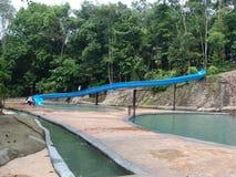 Aire de jeux sculptée de l'eau Image stock